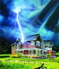 Молниезащита зданий, молниеприемник г.Жигулевск